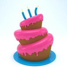 Birthday cake 04 3D Model