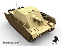 Sturmpanzer IV 3D Model