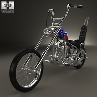 Harley-Davidson Easy Rider Captain America 1969 3D Model