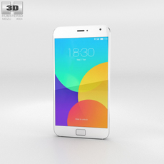 Meizu MX4 Pro White Phone 3D Model