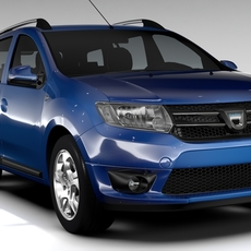 Dacia Logan MCV 2016 3D Model
