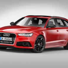 Audi RS6 Avant (2017) 3D Model
