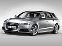 Audi A6 Avant (2017) 3D Model