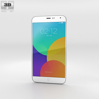 Meizu MX4 White Phone 3D Model
