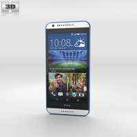 HTC Desire 620G Santorini White Phone 3D Model