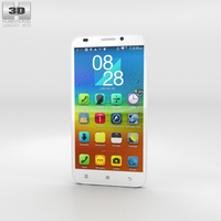 Lenovo A916 White Phone 3D Model