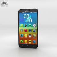 Lenovo A916 Black Phone 3D Model