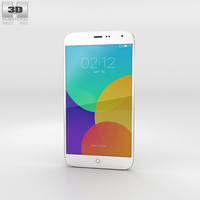 Meizu MX4 Gold Phone 3D Model