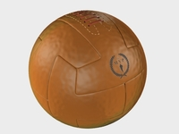 Vintage Soccerball Leather 3D Model