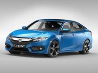 Honda Civic (2017) 3D Model