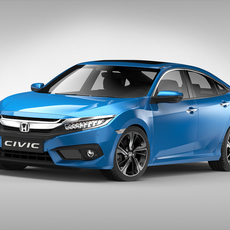 Honda Civic (2017) 3D Model