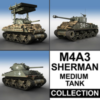M4A3 Sherman - Collection 3D Model
