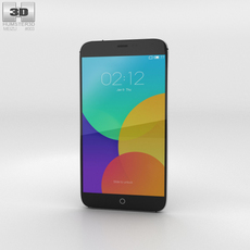 Meizu MX4 Gray Phone 3D Model