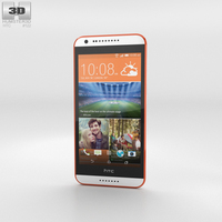 HTC Desire 620G Tangerine White Phone 3D Model