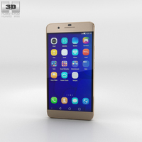 Huawei Honor 6 Plus Gold Phone 3D Model