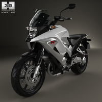 Honda VFR800X Crossrunner 2011 3D Model