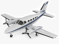 Cessna 421 Golden Eagle 3D Model