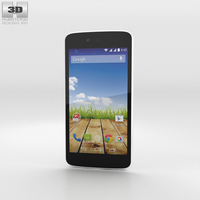 Micromax Canvas A1 Serene White Phone 3D Model