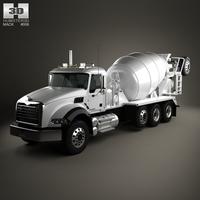 Mack Granite Mixer Truck 2002 3D Model