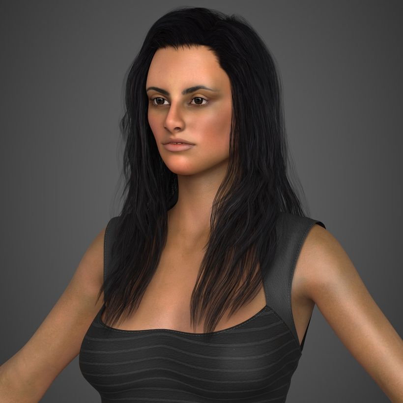 Young Sexy Woman 3D Model