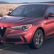 Alfa Romeo Stelvio Quadrifoglio 2018 desert studio 3D Model