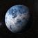Blue alien planet 3D Model