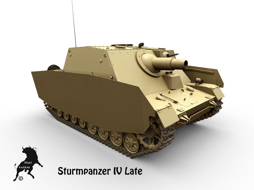 Sturmpanzer IV Late version 3D Model