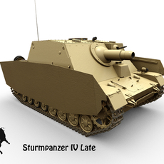 Sturmpanzer IV Late version 3D Model
