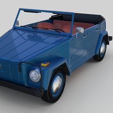 VW 181 Thing with interior 3D Model