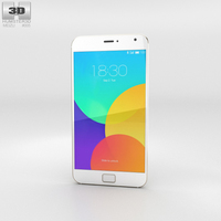 Meizu MX4 Pro Gold Phone 3D Model