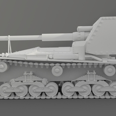 Tank Ansaldo 90mm 3D Model