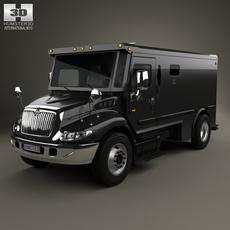 International Durastar Armored Cash Truck 2002 3D Model