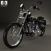 Harley-Davidson FXST Softail 1984 3D Model