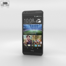 HTC Desire 620G Tuxedo Grey Phone 3D Model