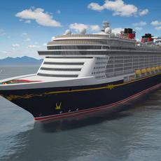 Disney Dream Cruise Ship 3D Model