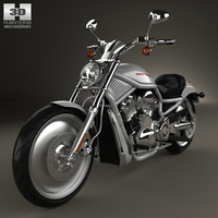 Harley-Davidson VRSCA V-Rod 2002 3D Model