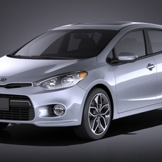 Kia Forte Hatchback 5door 2016 VRAY 3D Model