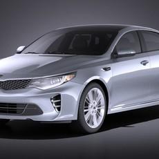 Kia Optima GT 2017 VRAY 3D Model