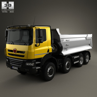 Tatra Phoenix Tipper Truck 4-axle 2011 3D Model