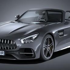 Mercedes AMG GT C Roadster 2017 3D Model