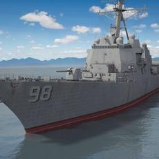 USS Forrest Sherman DDG98 Destroyer 3D Model
