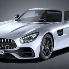 Mercedes AMG GT Roadster 2017 3D Model
