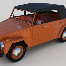 VW Type 181 with detailed interior 3D Model