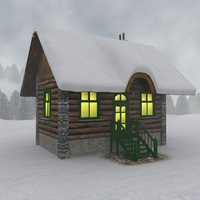 Christmas Lodge 3D Model