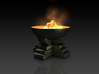 Ancient fire pit bowl 3D Model
