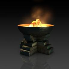 Ancient fire pit bowl 3D Model
