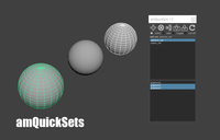 amQuickSets 1.4.1 for Maya (maya script)