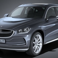 Generic SUV Coupe Luxury 2017 3D Model