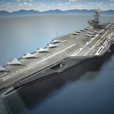 USS Ronald Reagan CVN76 Carrier 3D Model