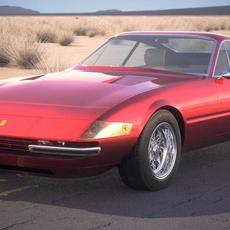 Ferrari Daytona Coupe 1968-1973 3D Model